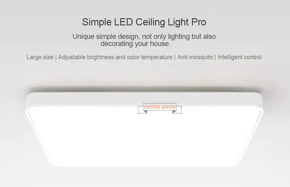 Xiaomi yeelight simple led ceiling light pro light up and decorate all brandsdealsgearbestlatest newsother techxiaomi xiaomi yeelight simple led ceiling light aloadofball Images