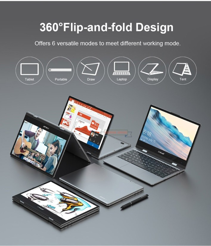 Teclast F5 Laptop 360° Rotating Touch Screen For Just