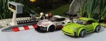 LEGO Speed Champions Porsche 911 RSR and 911 Turbo 3.0 75888 Racing Past the Pit Lane