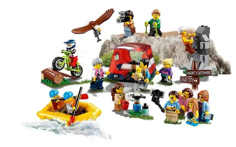 Lego People Pack - Outdoor Adventures 60202 contents