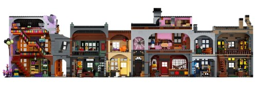 LEGO Harry Potter Diagon Alley 75978 - All doll house interior