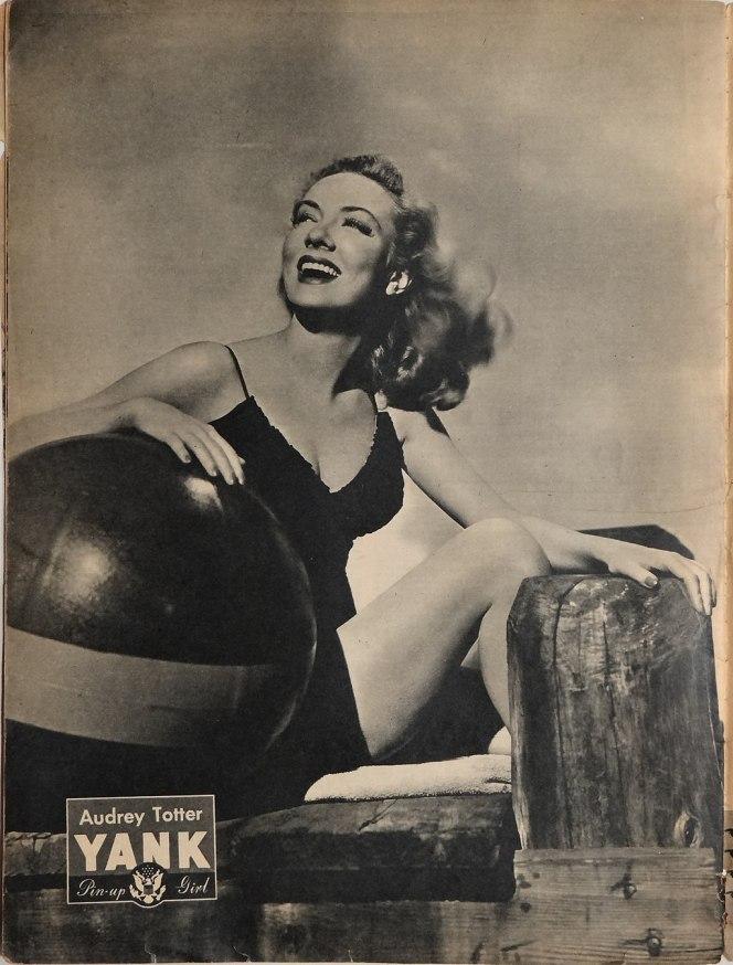 Pin-up fra storhetstiden på 1940-tallet.