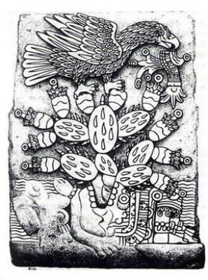 Dibujo del Teocalli