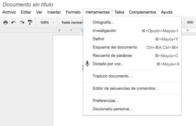 Activando Google Docs como dictáfono