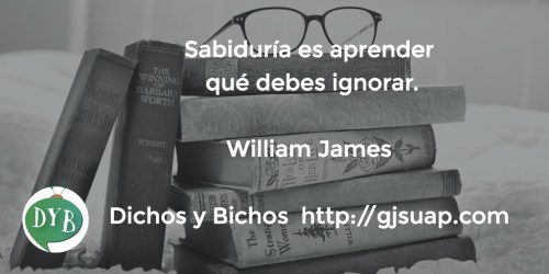 Aprender a ignorar - James