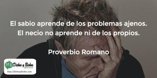 Sabiduría - Proverbio romano