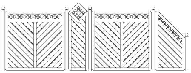 Sichtschutzelement Leon mit Gitter gestaltet
