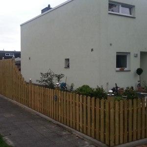 Zaun-Landhaus-gerade-Ausführung