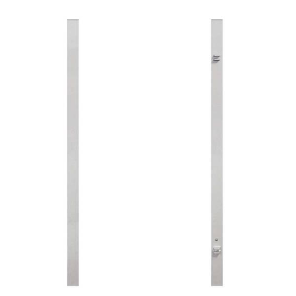 Torpfosten-Set-für-Einzeltor-silber