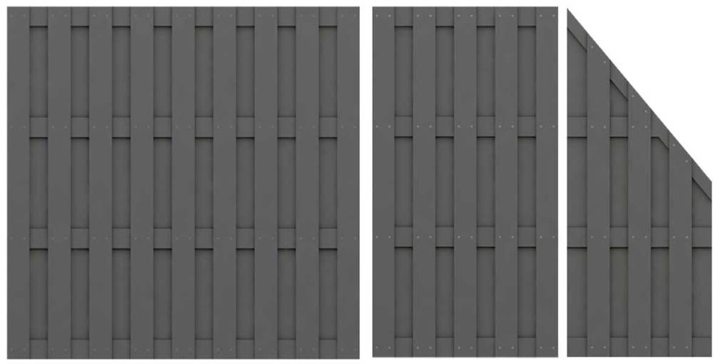 WPC-Zaunreihe-anthrazit