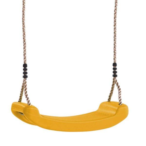 Schaukelsitz aus Kunststoff gelb