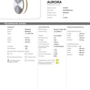 LED Wandleuchte Aurora