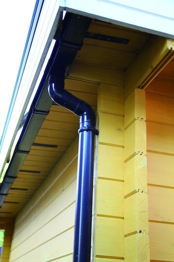 Kunststoff-Dachrinne 420B anthrazit