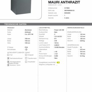LED-Wandleuchte-Mauri-anthrazit-Technische-Daten