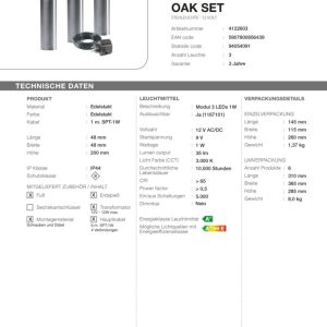 LED-Standleuchten Set Oak