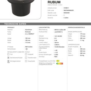 LED Bodeneinbaustrahler Rubum