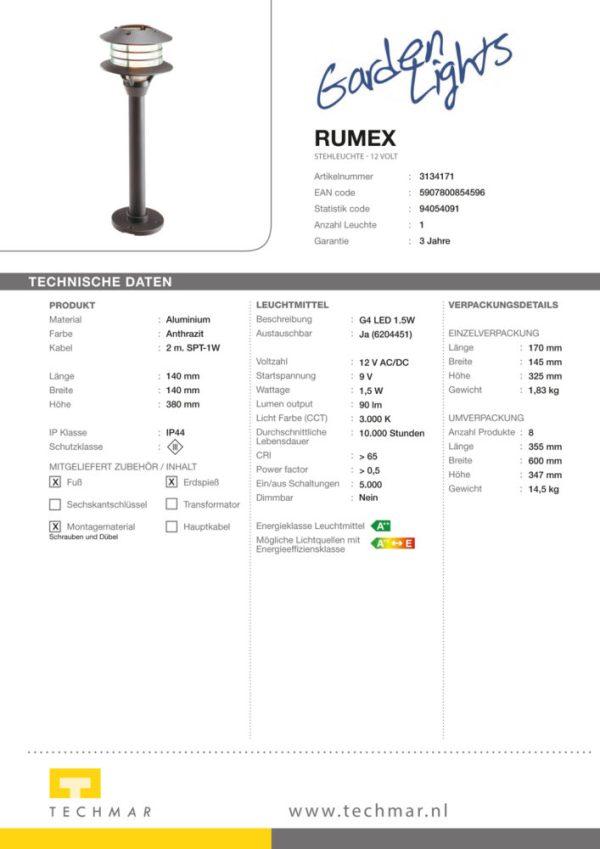 LED Standleuchte Rumex