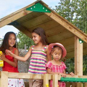 Spielturm Chalet mit Holzdach