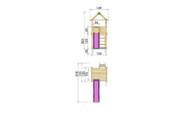 Spielturm House Abmessungen
