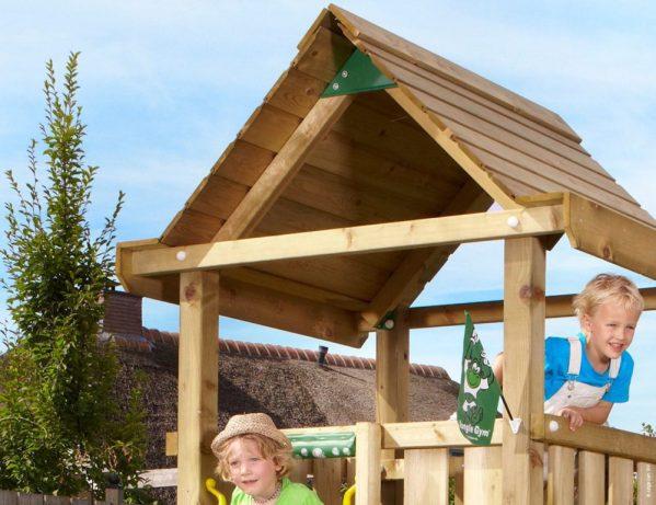 Spielturm House mit Holzdach Detail