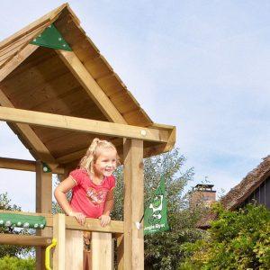 Spielturm House mit Holzdach