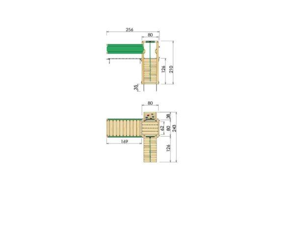 Spielturmerweiterung Bridge Module Abmessungen