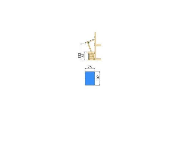 Spielturmerweiterung Mini Market Module Abmessungen