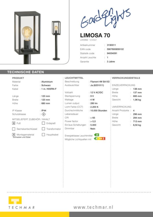 LED Standleuchte Limosa 70