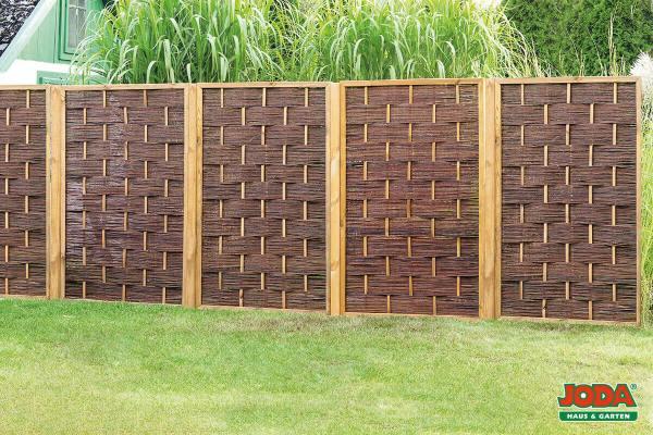 Weidezaun Sichtschutz Zaun aus Weide