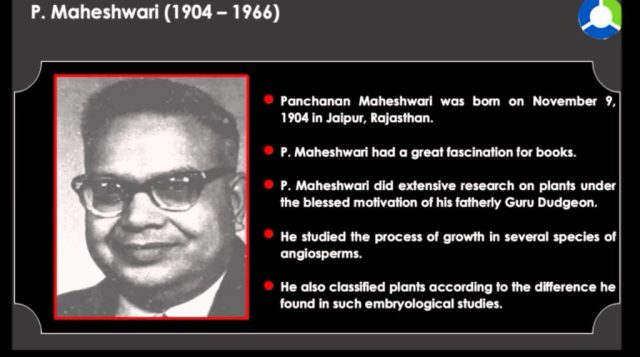 P.Maheshwari-Scientist of India
