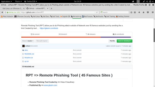 Remote Phishing Tool - Vikas Chaudhary