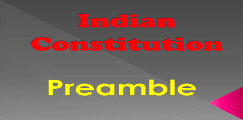 Preamble > Indian Constitution