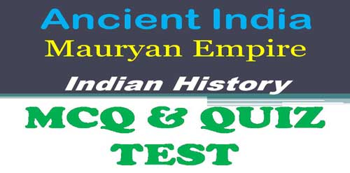 Important MCQ on Mauryan Empire