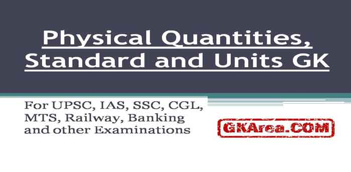 Physical Quantities Measurements Standards Units Important