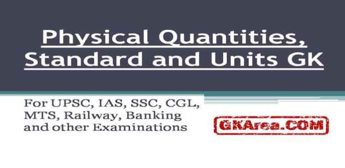 Physical Quantities Measurements Standards & Units