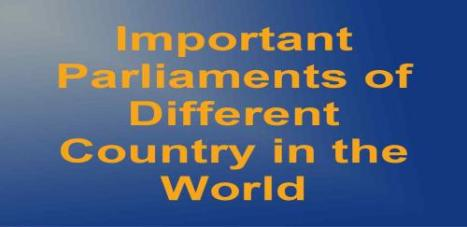 Countries with their Parliament Names > GK [PDF]