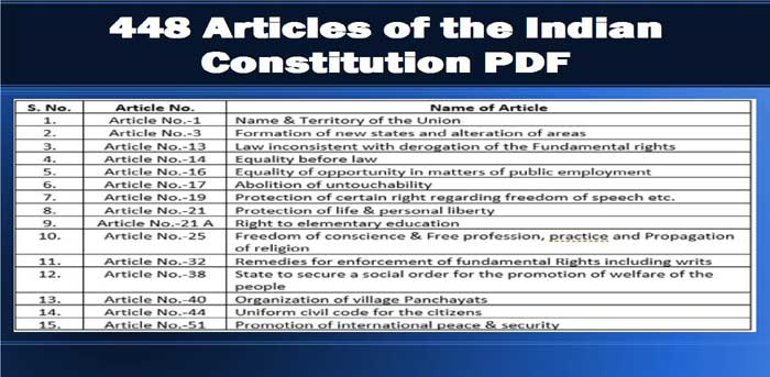 Indian Constitution All Articles Pdf
