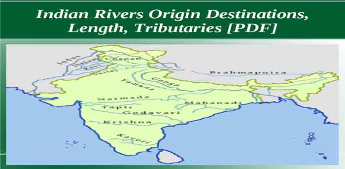 Indian River Origin Destinations, Length, Tributaries