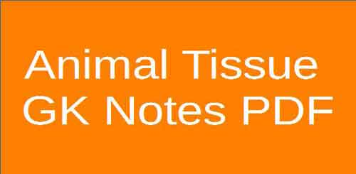 Animal Tissue - GK Notes PDF