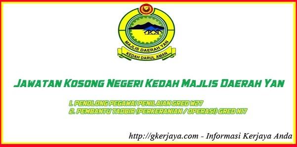 Jawatan Kosong Negeri Kedah Majlis Daerah Yan