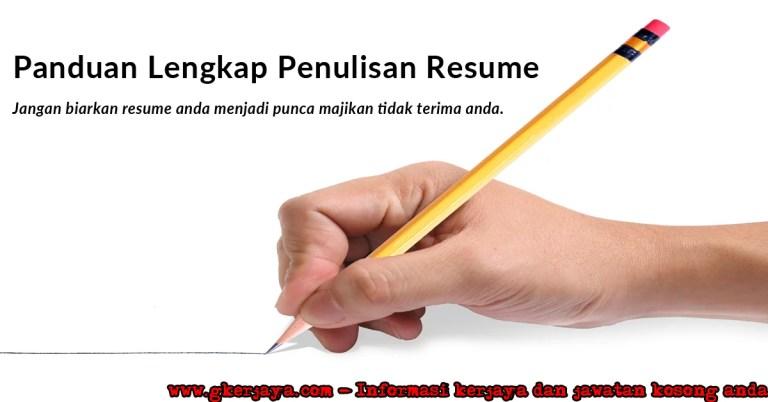 Cara Buat Resume - Contoh Resume Lengkap Terbaik