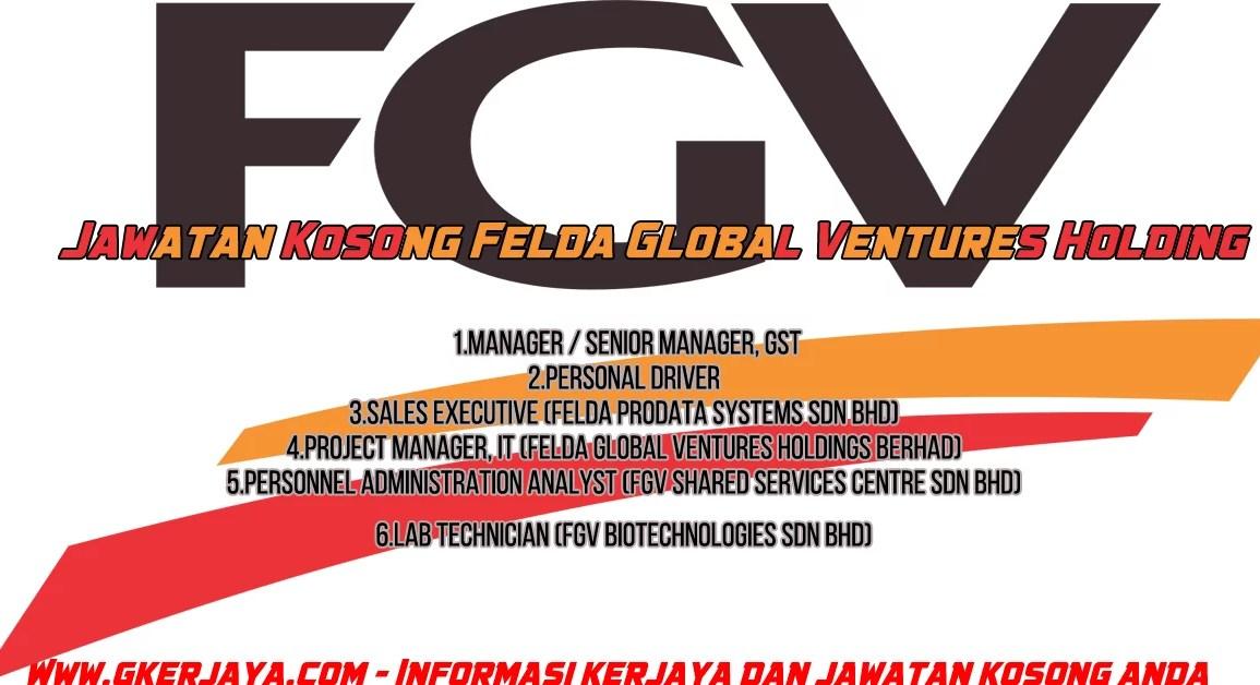 Jawatan Kosong Felda Global Ventures Holding