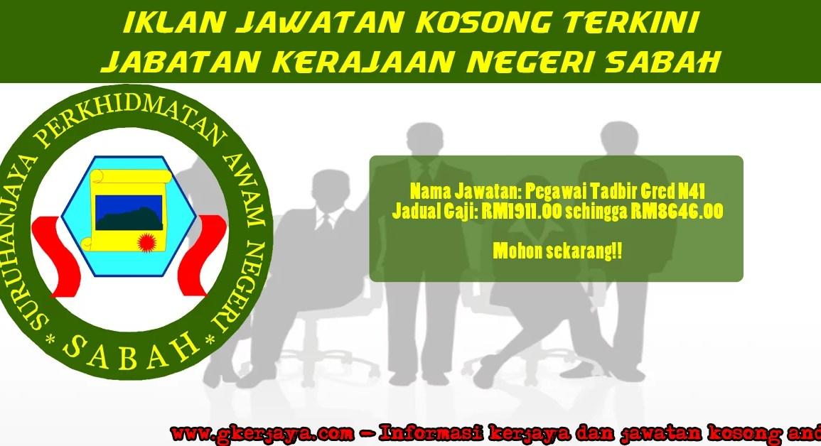 Kerja Kosong Sabah Pengambilan SPA Negeri Sabah
