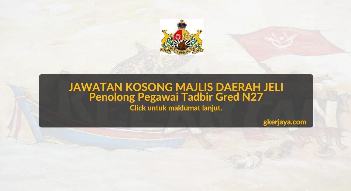 Jawatan Kosong Majlis Daerah Jeli Kelantan