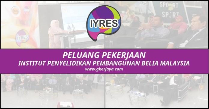 Jawatan Kosong Institut Penyelidikan Pembangunan Belia Malaysia