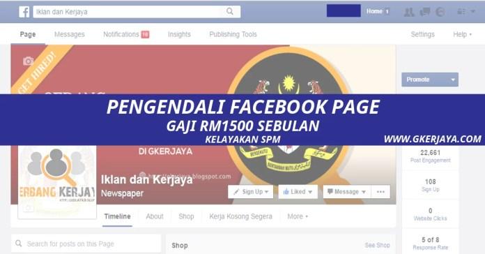 Jawatan Kosong Pengendali Facebook page