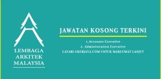 Iklan Jawatan Kosong Lembaga Arkitek Malaysia