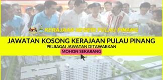 Jawatan Kosong Kerajaan Negeri Pulau Pinang MAY