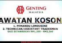 Career Genting Malaysia Berhad