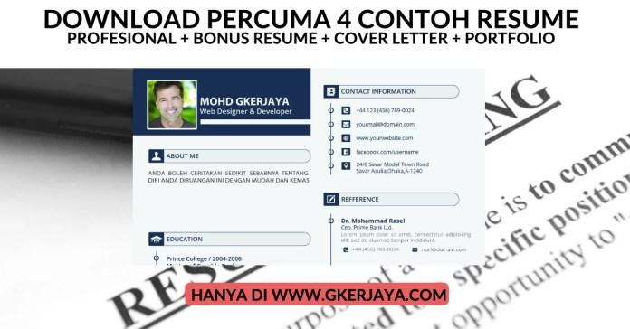 Download percuma Contoh Resume cover letter